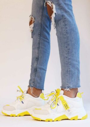 Ayzah/Yellow - Sneakers met dubbele veters | Original Villamoo sneakers |
