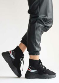 Roos/Black – Sok sneakers 5