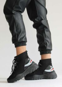 Roos/Black – Sok sneakers 1
