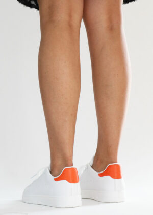Mona/Oranje - Basic sneakers
