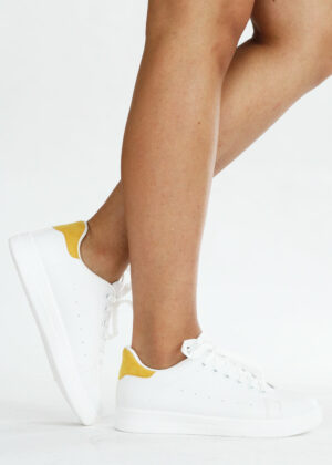 Mona/Yellow - Basic sneakers