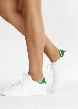 Mona/Green - Basic sneakers