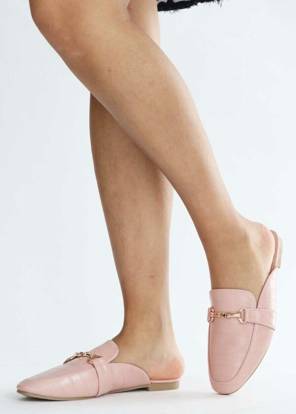 Noa/Pink - Snake print instappers