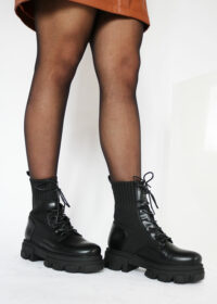 Melisa/Black - Sock boots 6