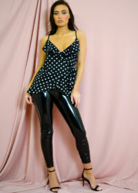 Polka dot top/Black 2