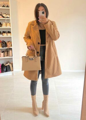 Teddy coat/Camel