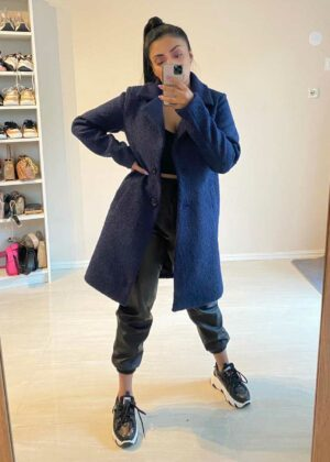 Teddy coat/Navy blue