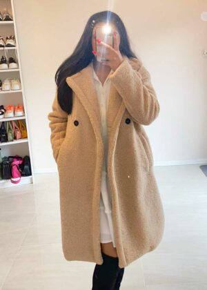 Double button Teddy Winter Coat/Beige