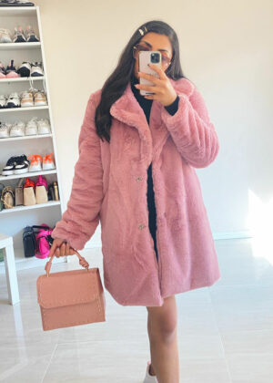 Faux bont coat/Pink