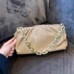 Pearl/Camel - Classy chain bag