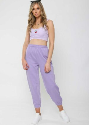 Oversized Fleece Joggers/Lila