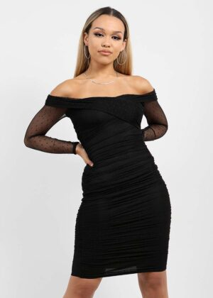 Off shoulder dress/Black