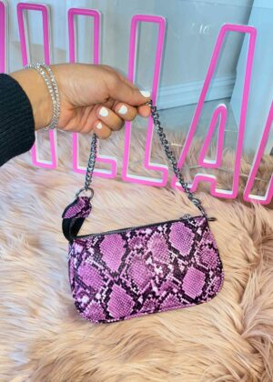 Ferzana/Purple snake - Mini chain bag